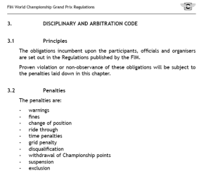 Art 3 Disciplinary & arbitration code