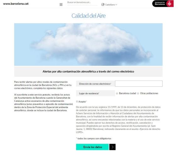 Servicio alertas Barcelona