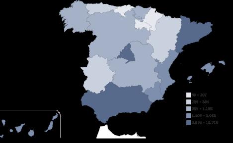 mapa robo vehiculos España