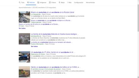 Pantallazo resultados google